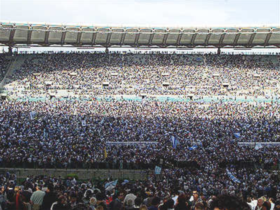 Supporters Invading the Pitch Following Lazio's Historic Scudetto Win