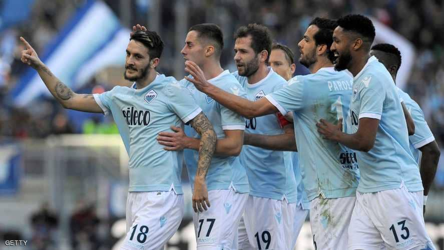 Lazio Celebrating after a goal in the Serie A