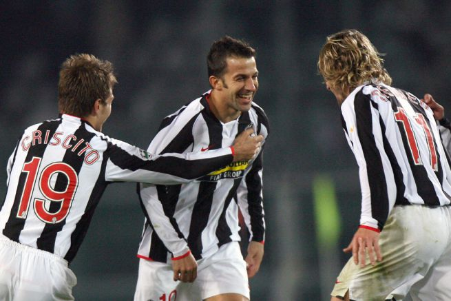Criscito In Action with Legends Pavel Nedved and Alessandro Del Piero for Juventus - Outdoorblog