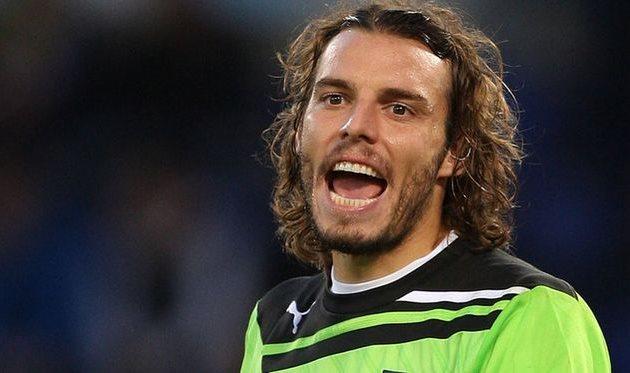 Federico Marchetti playing for Lazio