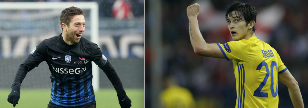 Argentine Papu Gomez, and Iranian Azmoun Sardar, Sources- FourFourTwo and sosfanta.calciomercato.com