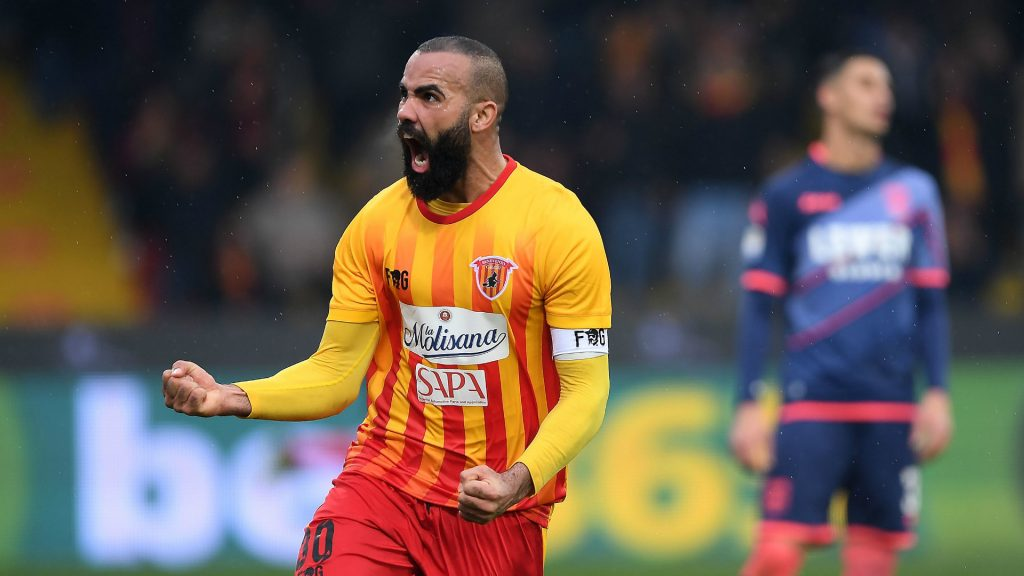 Sandro playing for Benevento, Source- kohajone.com