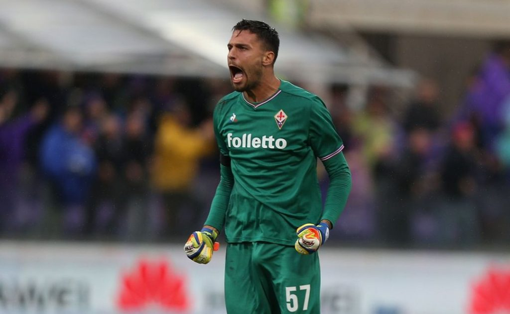 Marco Sportiello barks orders at Fiorentina. Source: ViolaNation