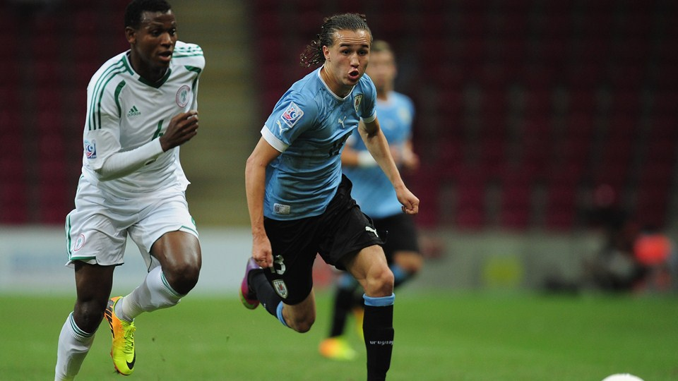 Diego Laxalt in action for Uruguay, Source- FIFA