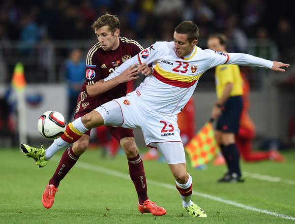 Adam Marusic playing for Montenegro, Source- Zimbio