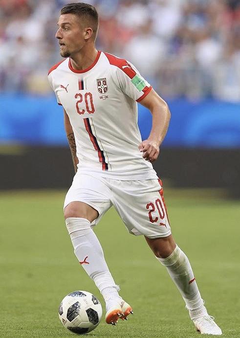 Sergej Milinkovic-Savic playing for Serbia, Source- Instagram