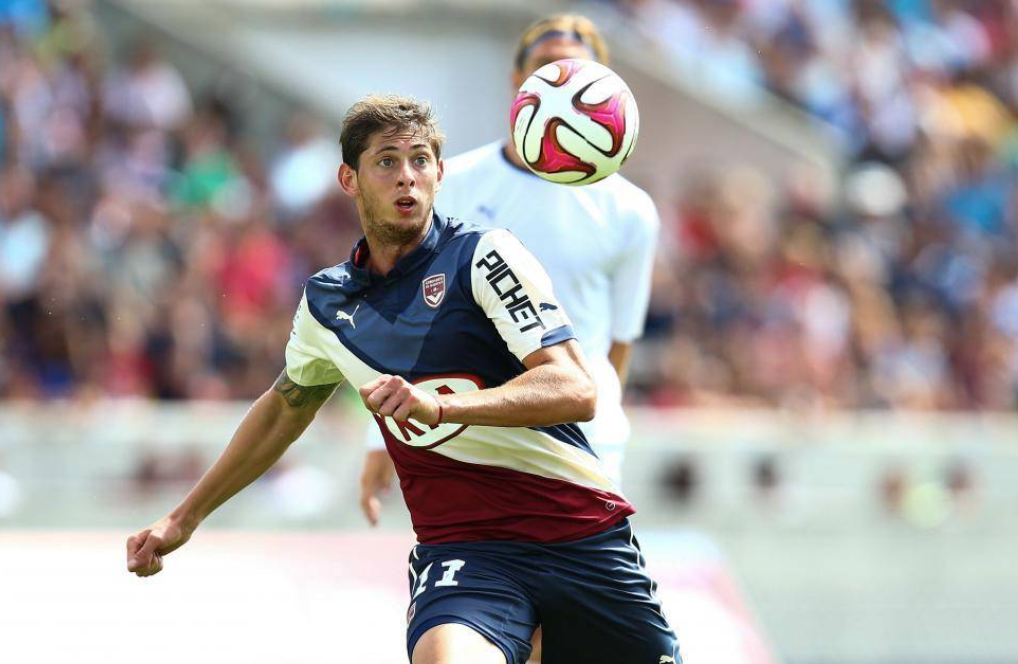 Emiliano Sala playing for Bordeaux, Source- madeinfoot.com