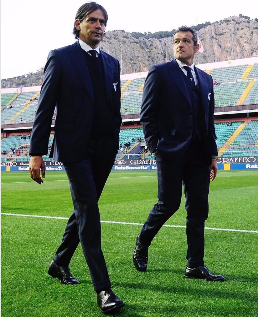 Simone Inzaghi and Massimiliano Farris, Source- Official S.S.Lazio