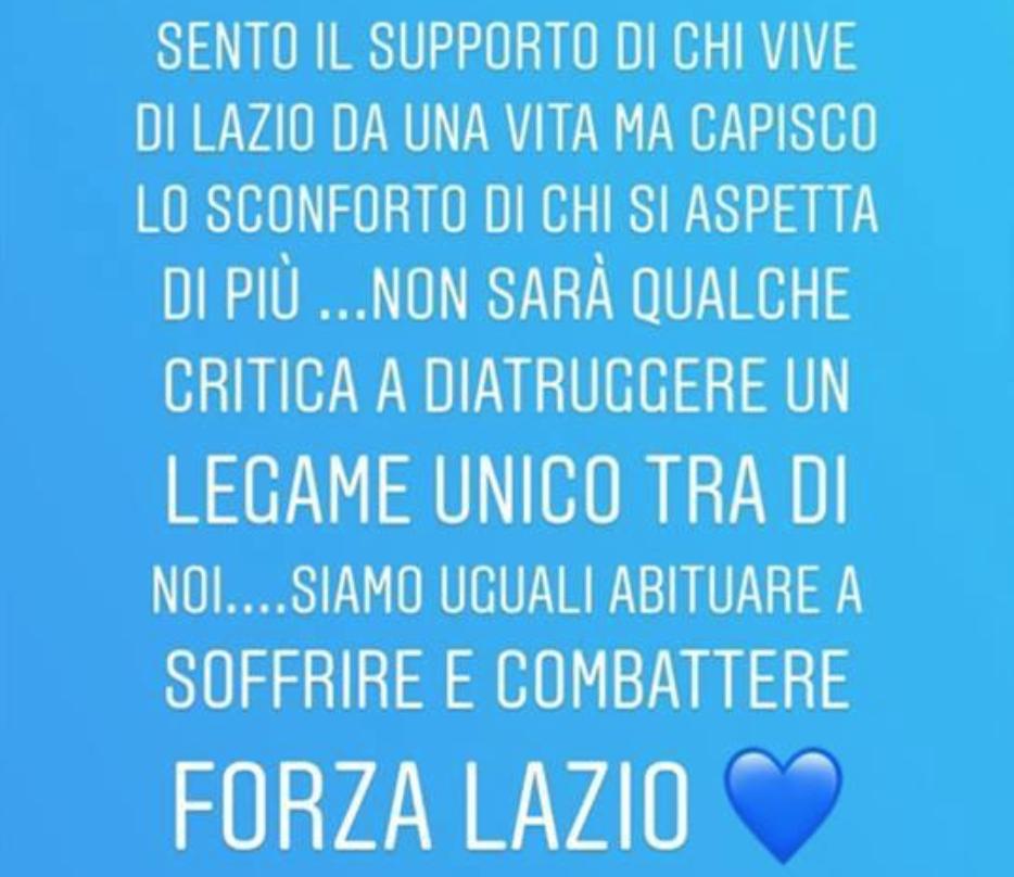 Ciro Immobile Instagram Story