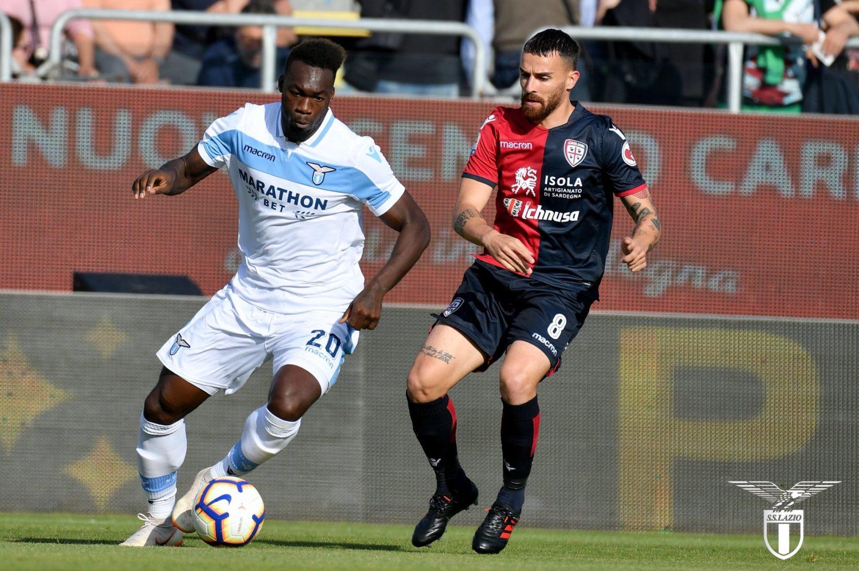 Felipe Caicedo in action in Cagliari vs Lazio