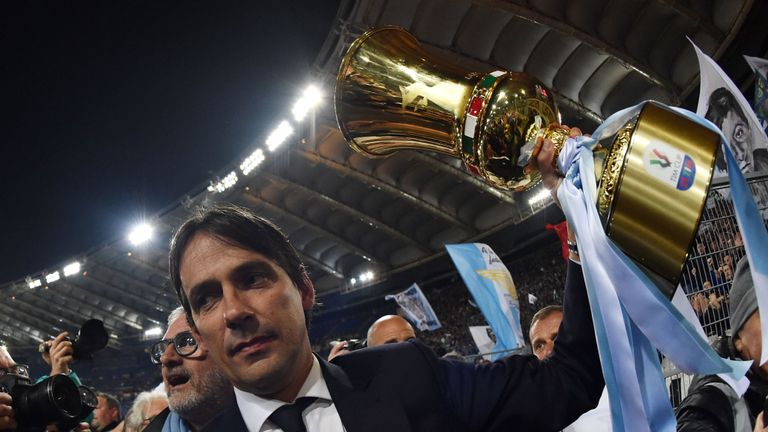 Simone Inzaghi of Lazio, Source- Jersey Peeps
