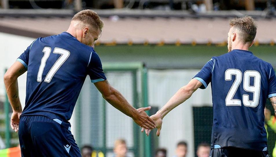 Ciro Immobile and Manuel Lazzari, Source- Official S.S.Lazio