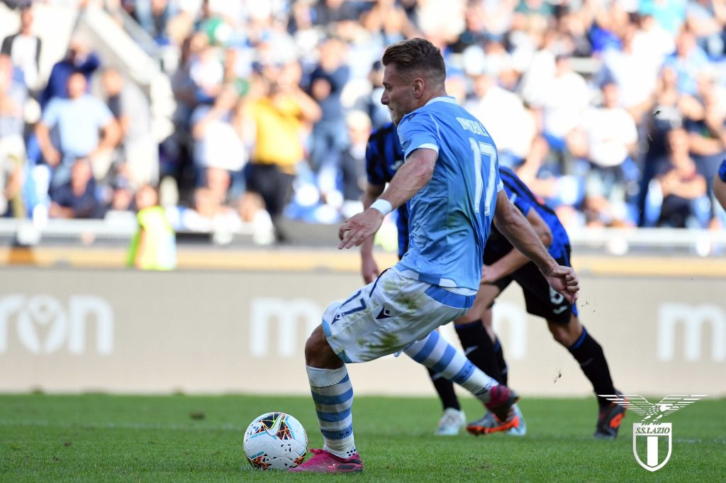 Ciro Immobile in Lazio vs Atalanta, Source- Official SS Lazio
