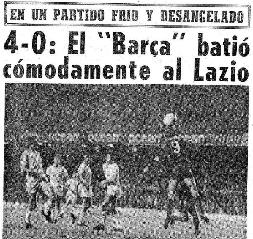 'El Mundo' 11 June 1975, Source- LazioWiki.Org
