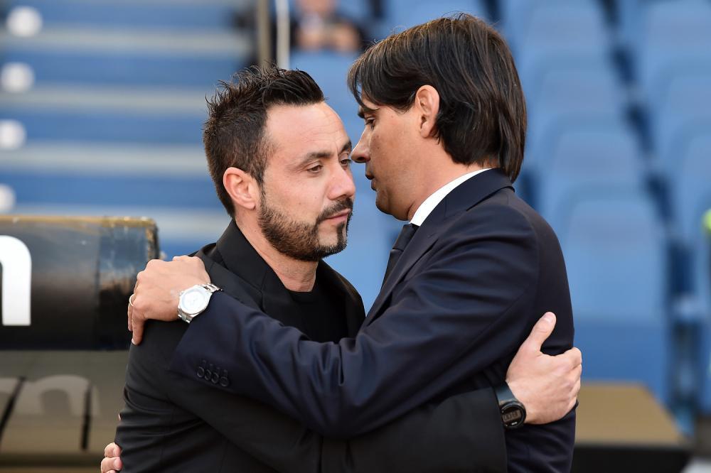Simone Inzaghi and Roberto De Zerbi, Source- TuttoMercatoWeb