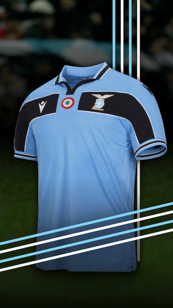 S.S. Lazio 120th Anniversary Kit, Source- matchwornshirt.com