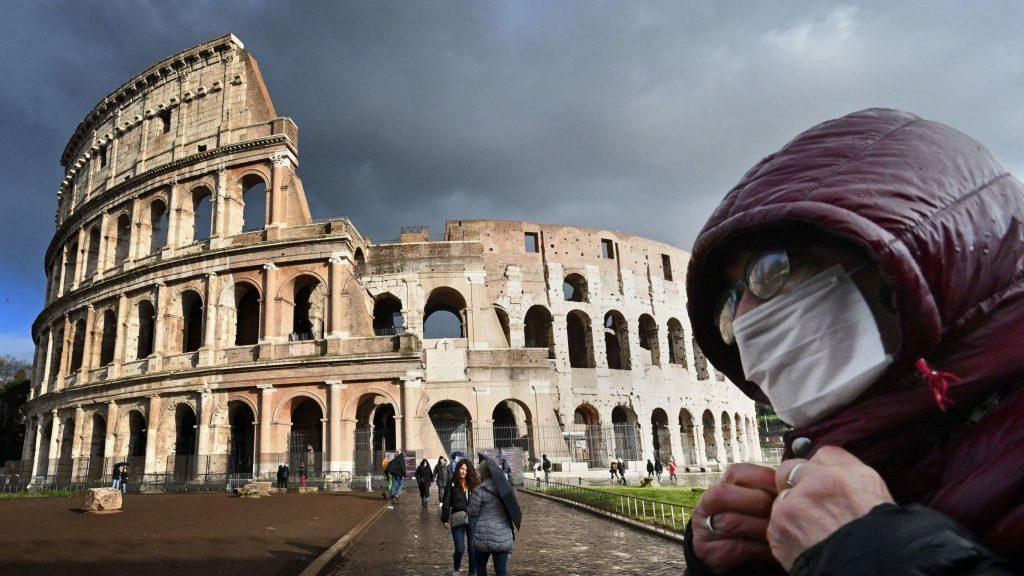 Coronavirus x Rome, Source- Sky News