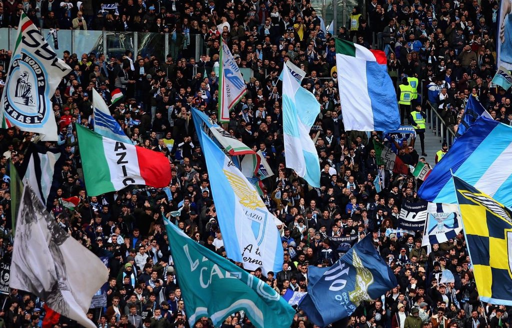 Lazio Choreography at the Stadio Olimpico, Source- Official S.S. Lazio