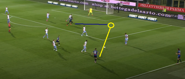 Atalanta goal 1.1