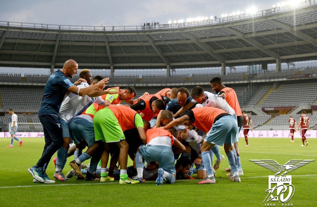 Lazio Celebrating Against Torino in the 2019/20 Serie A, Source- Official S.S. Lazio