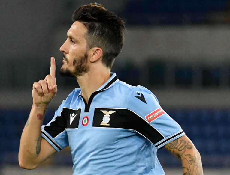 Luis Alberto Celebrating His Goal Against Fiorentina in the 2019/20 Serie A, Source- Official S.S. Lazio