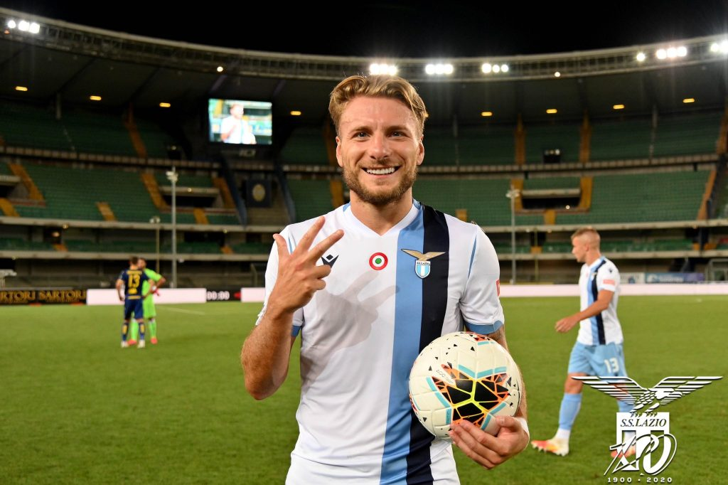 2019/20 Serie A / Matchday 36 / Hellas Verona vs Lazio / Ciro Immobile, Source- Official S.S. Lazio