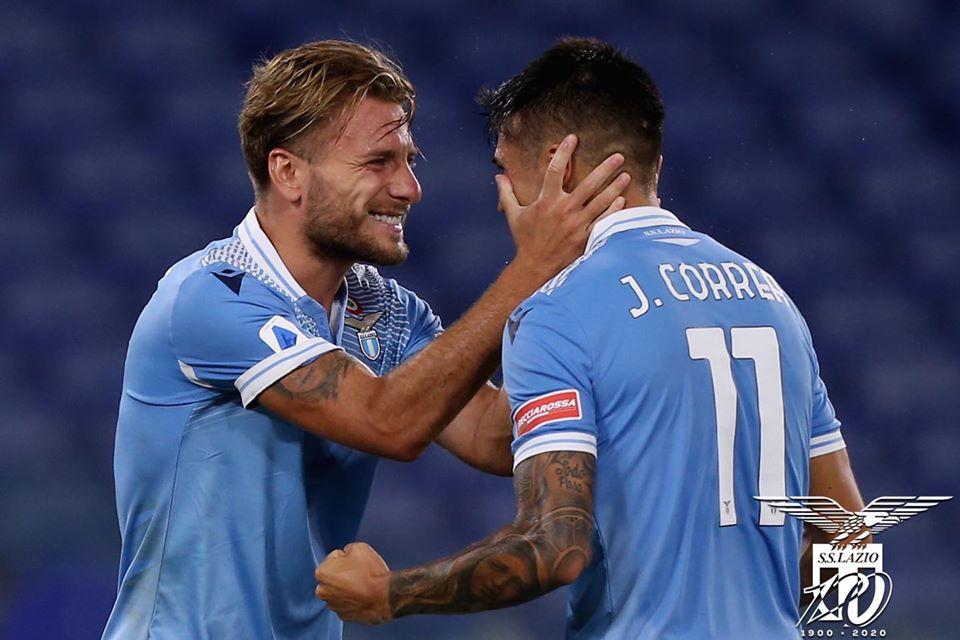 2019/20 Serie A - Lazio vs Brescia - Ciro Immobile and Joaquin Correa, Source- Official S.S. Lazio