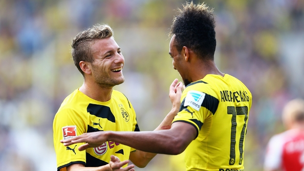 Ciro Immobile and Pierre-Emerick Aubameyang at Borussia Dortmund, Source- Getty Images