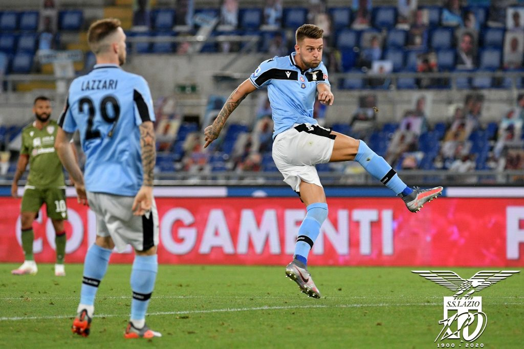 Sergej Milinkovic-Savic During Lazio vs Cagliari, Source- Official S.S. Lazio