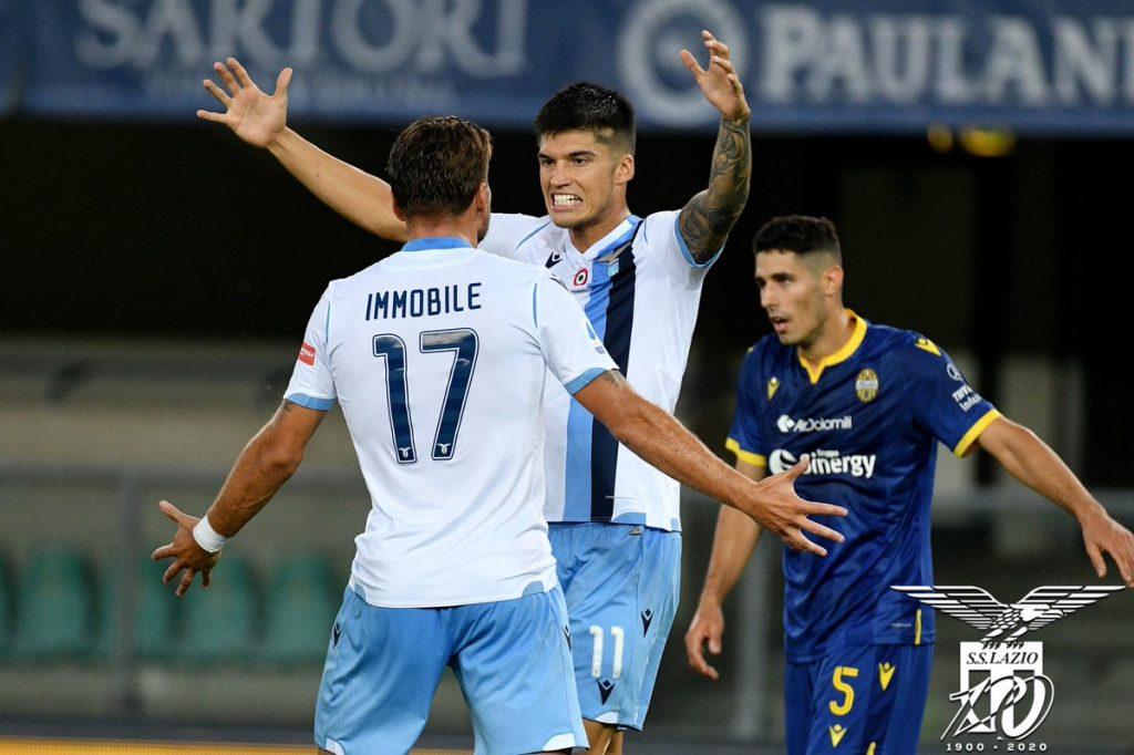 2019/20 Serie A, Matchday 36: Ciro Immobile and Joaquin Correa During Hellas Verona vs Lazio, Source- Official S.S. Lazio