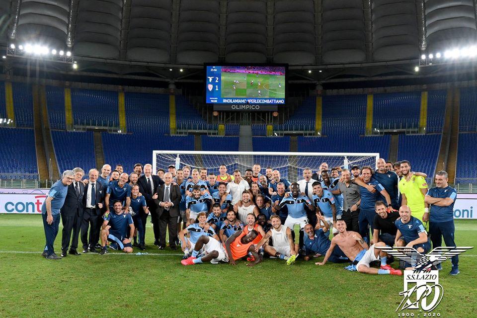 Lazio Celebrate Top 4, Source: Official S.S. Lazio