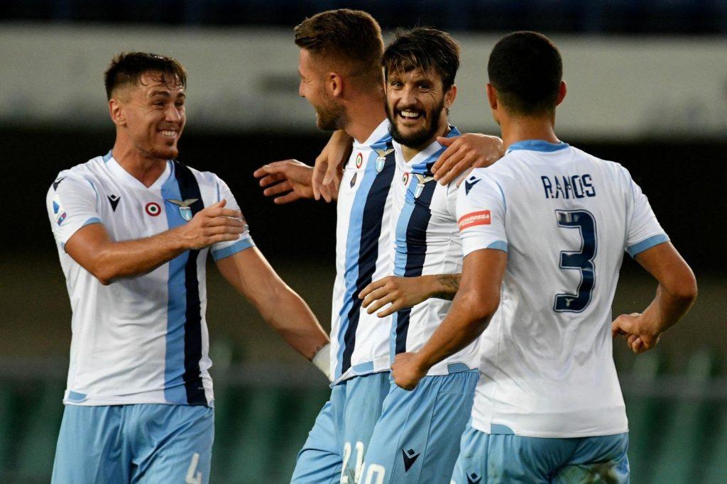 2019/20 Serie A, Matchday 36: Luis Alberto, Sergej Milinkovic-Savic, Luiz Felipe, and Patric During Hellas Verona vs Lazio, Source- Official S.S. Lazio
