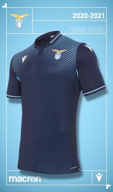 S.S. Lazio 2020/21 Third Kit, Source- Official S.S. Lazio