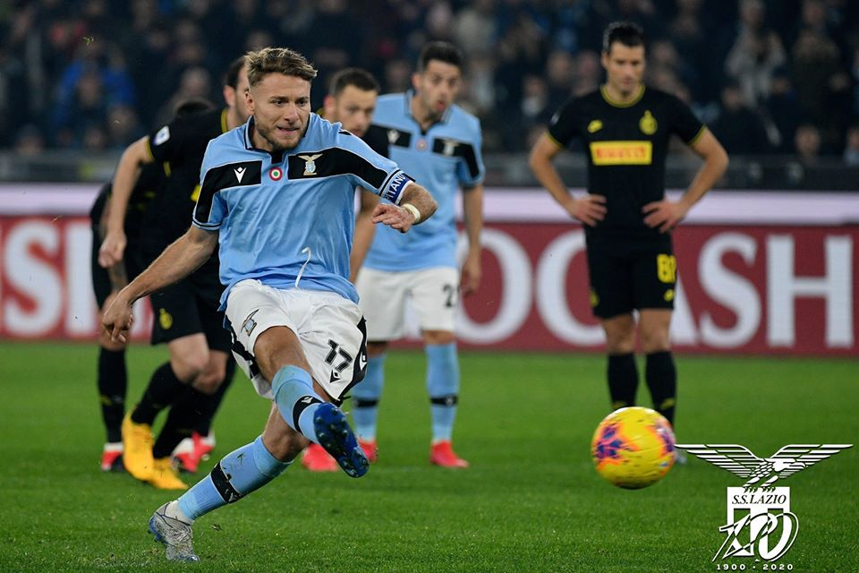 2019/20 Serie A - Matchday 24 - Lazio Vs Inter Milan - Ciro Immobile Penalty, Source - Official S.S. Lazio