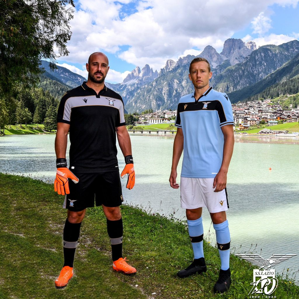 Pepe Reina & Lucas Leiva / S.S. Lazio 2020/21 UEFA Champions League Kit, Source- Official S.S. Lazio