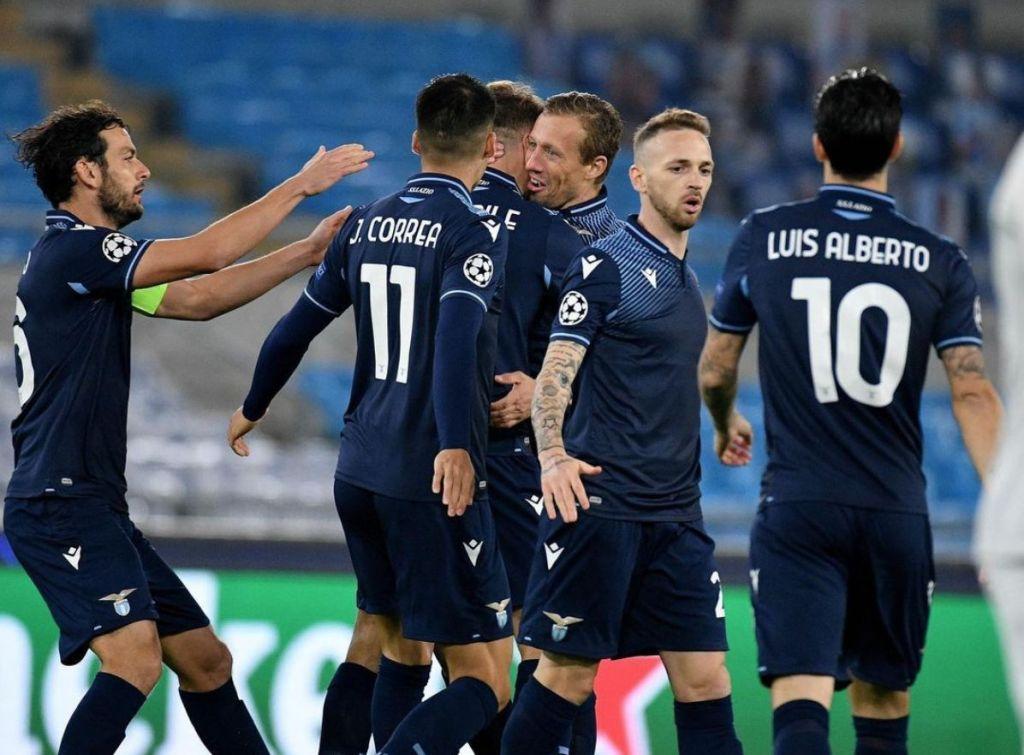 Lazio Celebrate/ S.S. Lazio vs Zenit / UEFA Champions League
