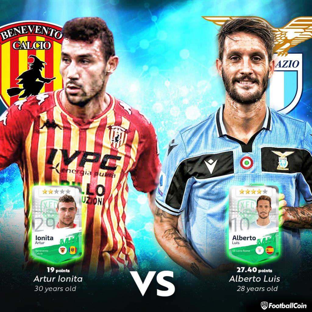 Artur Ioniță / Luis Alberto / Benevento vs Lazio / FootballCoin.io