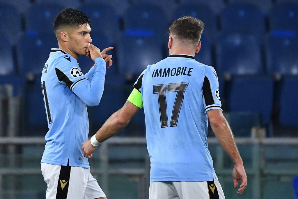 Joaquin Correa & Ciro Immobile Celebrate / Lazio vs Club Brugge / UEFA Champions League
