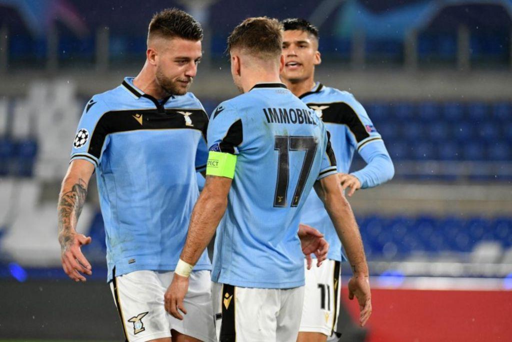 Sergej Milinkovic-Savic & Ciro Immobile & Joaquin Correa / Lazio vs Club Brugge / UEFA Champions League