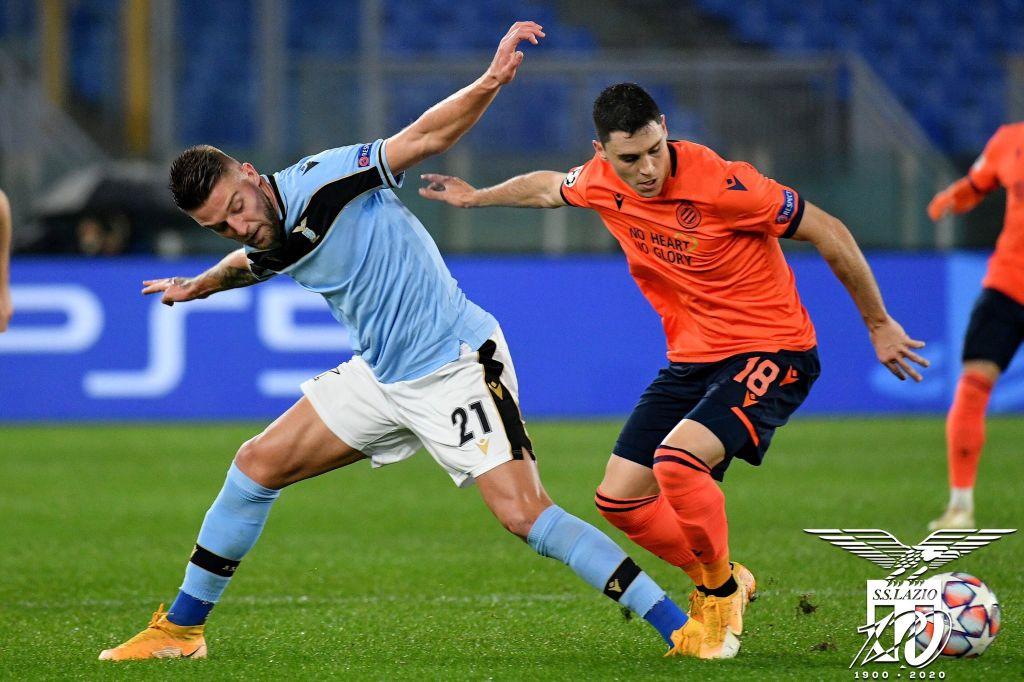 Sergej Milinkovic-Savic / Lazio vs Club Brugge / UEFA Champions League