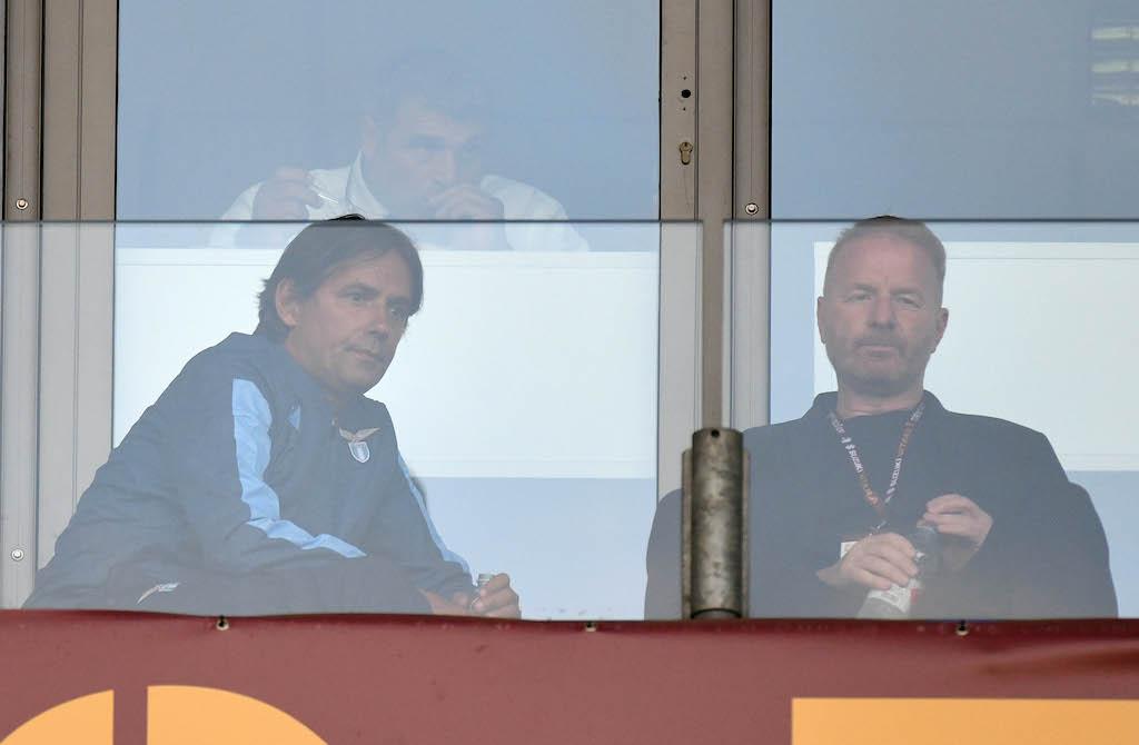 Simone Inzaggi e Igli Tare Campionato Serie A Tim 2019-2020 incontro Torino v Lazio allo stadio Atleti liberati di Bergamo. Torino, 29-06-2020 © Marco Rosi / Fotonotizia