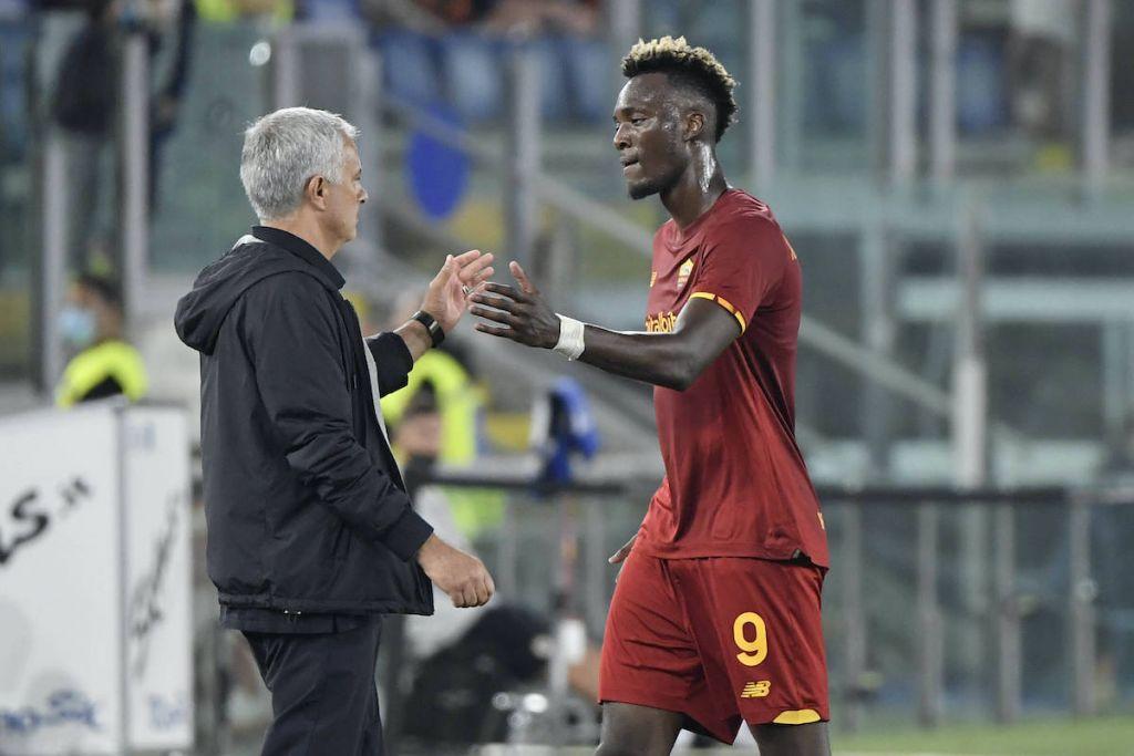 Tammy Abraham & Jose Mourinho / Roma